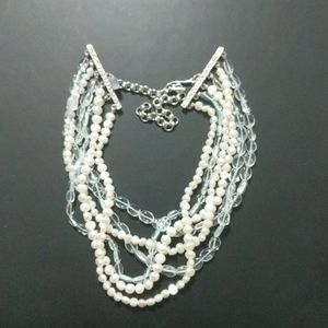 Kenneth Lane Freshwater Pearl and Blue Choker